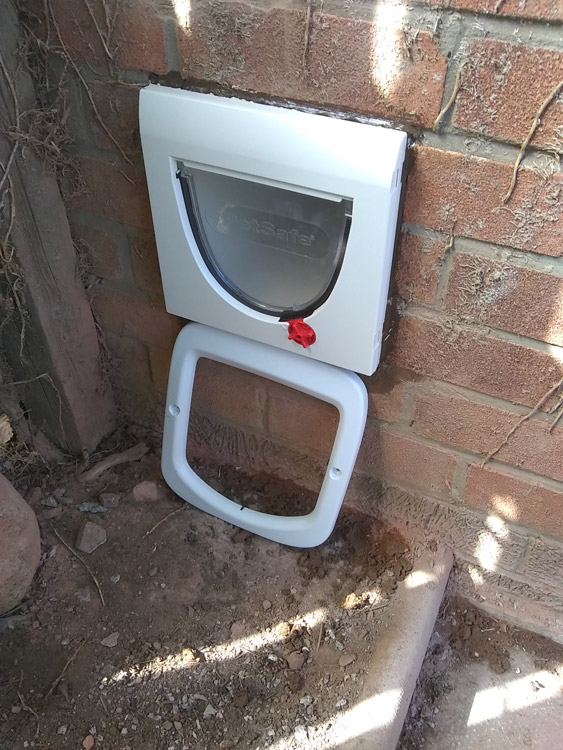 Cat flap fitted through wall Newcastle