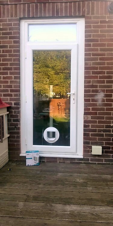 Cat flap fitters Gosforth and Brunton Park
