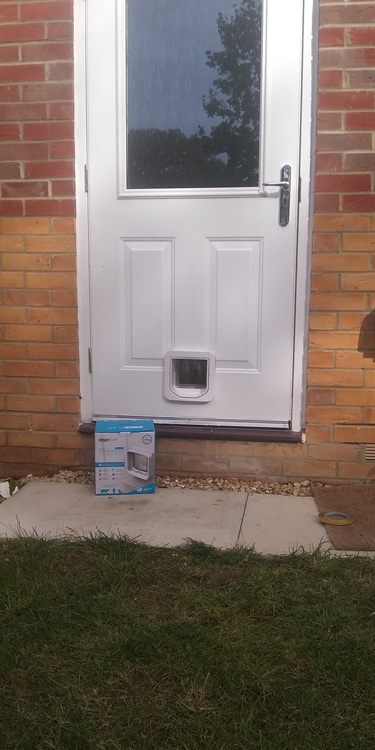 Cat flap fitters Walker and Byker