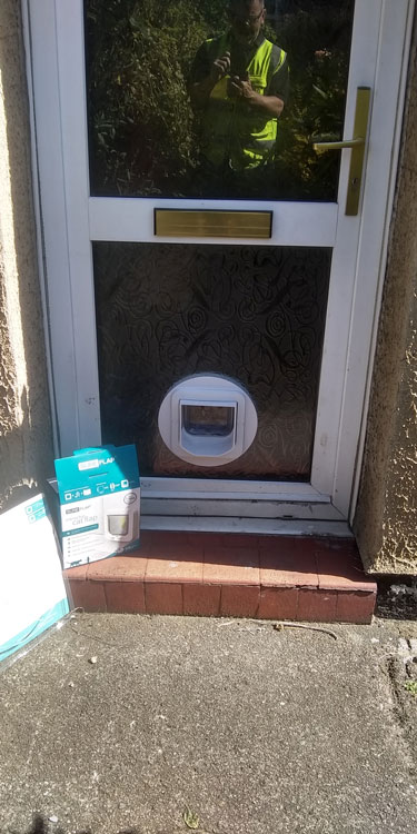 Cat and dog flap fitters Bensham and Gateshead