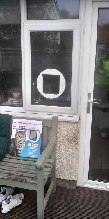 Cat and dog flap fitters Durham