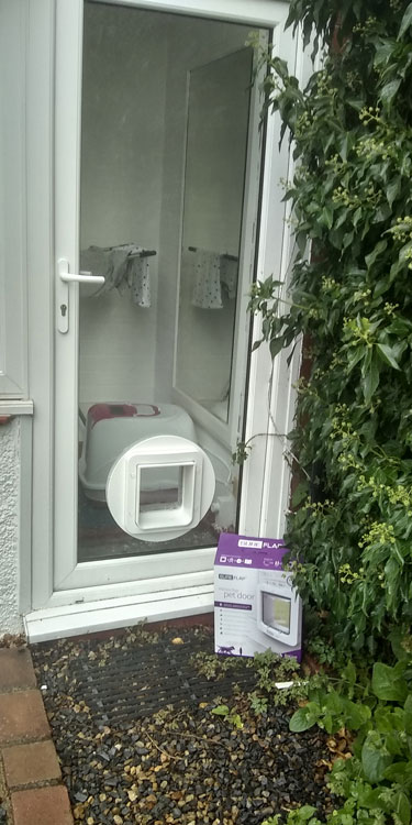 Cat and dog flap fitters Gosforth and Newcastle