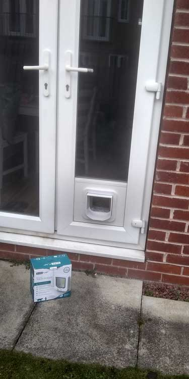Cat and dog flap fitters Longbenton and Newcastle