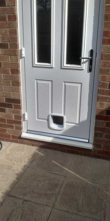 Cat and dog flap fitters Morpeth and Northumberland