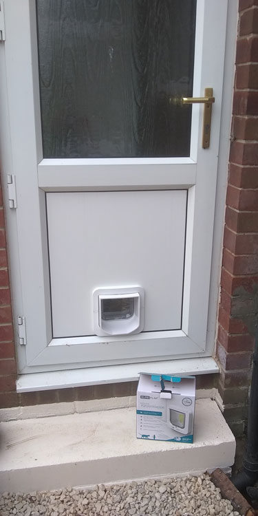 Cat and dog flap fitters Ponteland and Darras Hall