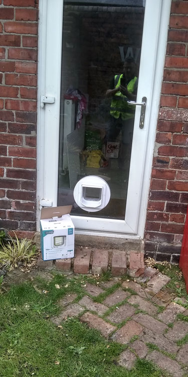 Cat and dog flap fitters Saltwell Park and Gateshead