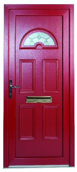 red coloured pvcu doors newcastle