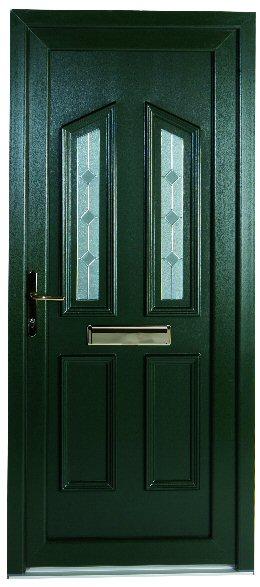 green pvcu door newcastle