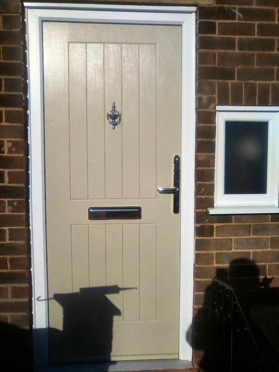 Coloured solid composite doors North East