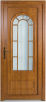 wood effect pvcu door