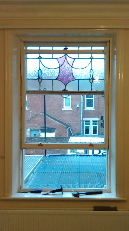 Rehau PVCu sash window installers Newcastle