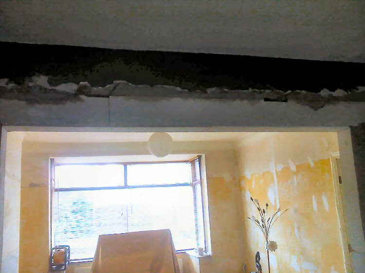Removal of a living room wall, property renovations Newcastle