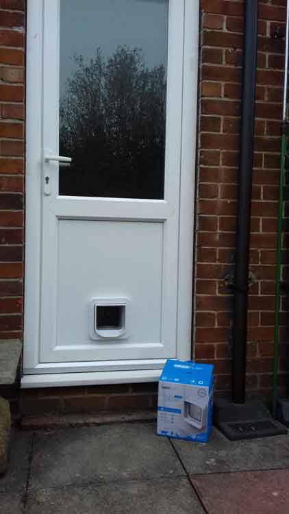 cat flap fitters Brunton Park