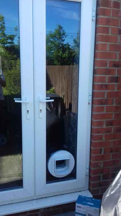 cat flap fitters Longbenton