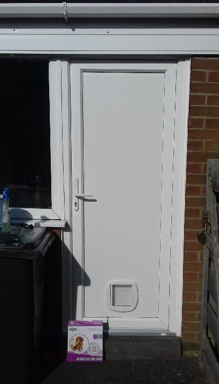 Cat flap fitters near me, here installed in Kingston Park