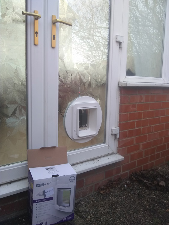 Cat flap fitters Scarborough and York