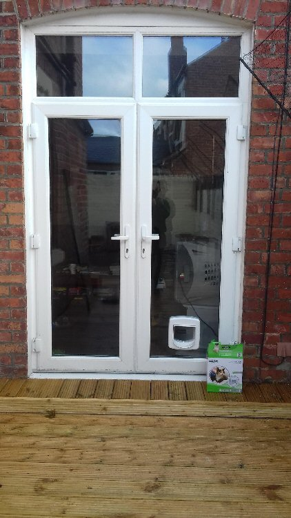 Cat flap installers near here, here installed in Longhirst Morpeth