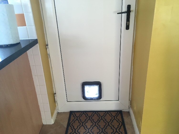Cat flap installers Heaton and Byker, here installed in Heaton