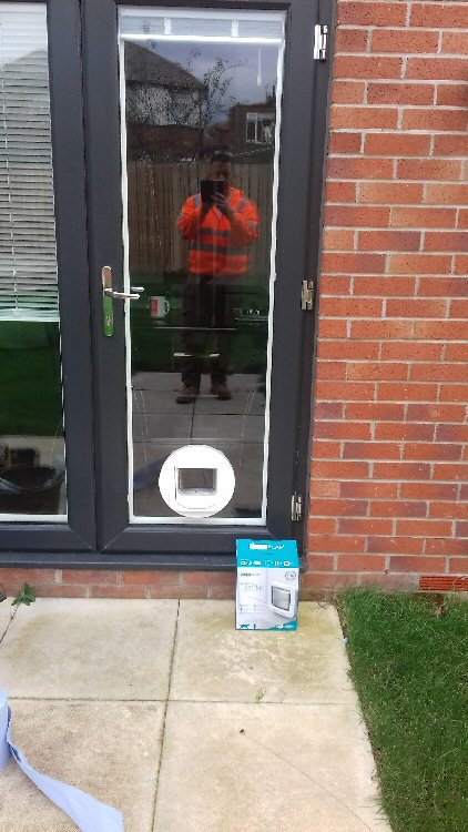Cat flap installers Gateshead, here installed in Walkerville