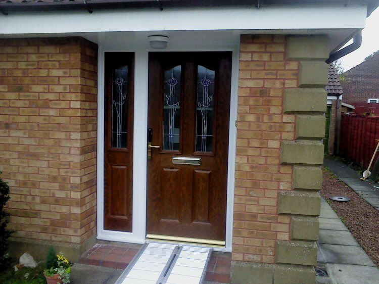 Fitted Composite doors Newcastle with keyless entry system