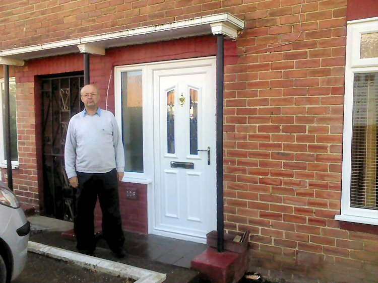 installed replacement PVCu doors newcastle and the North East