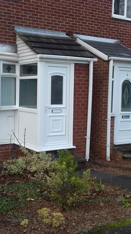 Rehau PVC porch installers Newcastle, PVC porches Newcastle and North East
