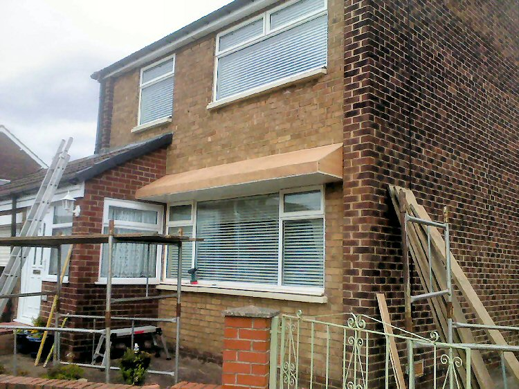 custom designed and built bow window canopy & Handmade Bow Window Canopies North East Rehua Window Installers