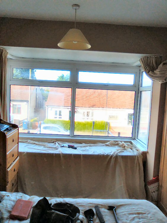the old bay window prior to updating to Rehau