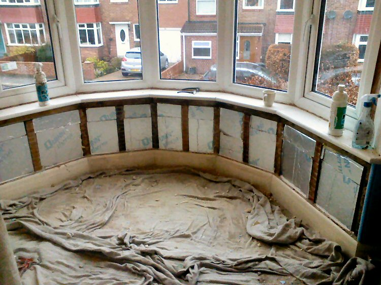 Bay window insulation and repair for Bay window replacement