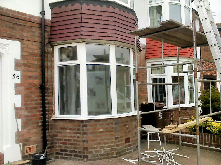 Kommerling bay windows with leaded Planitherm glass Sunderland and Newcastle