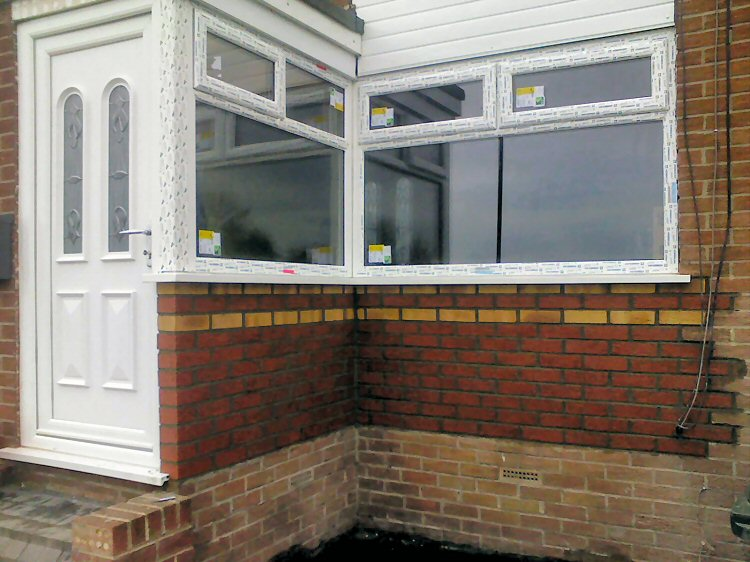 Newcastle builders Dave Kendall, porch refurbishment