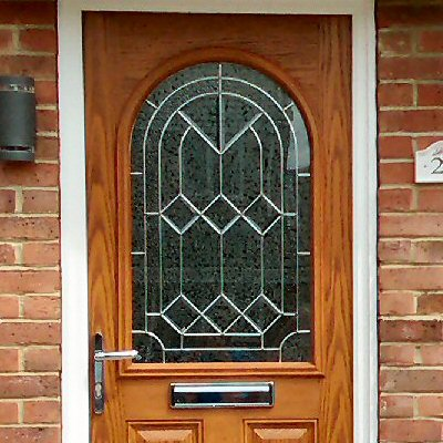 Oak effect composite door